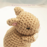 "Amigurumi Brown Bunny from ""Goodnight Baby Bunny Series""  あみぐるみ「おやすみ子うさぎシリーズ」より茶色のうさぎ"