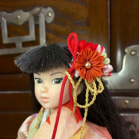 Japanese Tsumami Kanzashi Hair Ornaments for 1/6 size Dolls by Roshino's Ministry of Trade Garments Division  ロシーノ貿易省服飾課謹製 ドール用つまみ細工かんざし